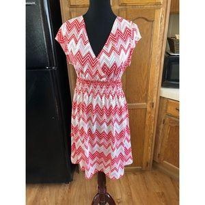 Red Chevron Dress by 5th & Love Size XL
